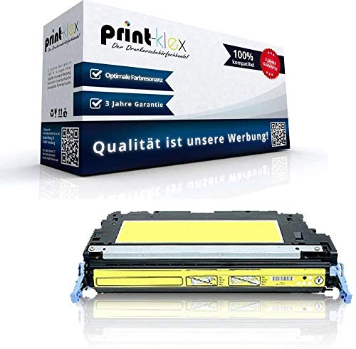 Print-Klex Kompatible Tonerkartusche für HP Color LaserJet 3800 Color LaserJet 3800DN Q7582A Q-7582 Yellow Gelb