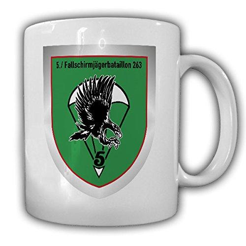 5 FschJgBtl 263 Fallschirmjägerbataillon Kompanie Wappen Abzeichen Zweibrücken Bundeswehr Fallschirmjäger Reservist Einheit Bund - Tasse Kaffee Becher #17265