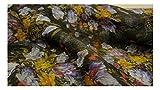 Fabrics-City% SCHWARZ/BUNT BEDRUCKT 100% SEIDE