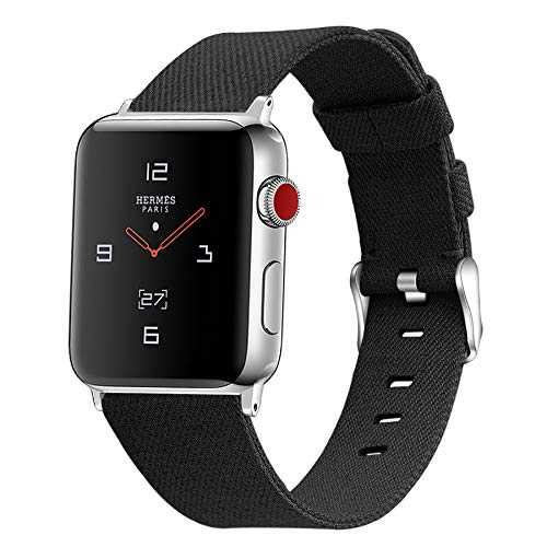 Compatible con Apple Watch Strap 38 mm 40 mm 42 mm 44 mm, Reemplazo de Correa de Tela Tejida Pulsera de Nylon Compatible con Apple Watch SE/iWatch Series 6 5 4 3 2 1,B,42mm/44mm