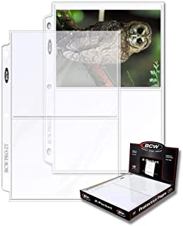 """BCW 2-Pocket Clear Protective Pages, Pocket Dimension 7-1/8"""" x 5-1/2"""" (50-Count)"""