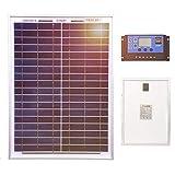 DOKIO Panneau solaire 20W 12V Poly Inclure le contrôleur Idéal pour toutes...