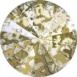 1122 Swarovski Chatons & Round Stones Rivoli Crystal Gold Patina   SS39 (8.3mm) - Pack of 144 (Wholesale)   Small & Wholesale Packs