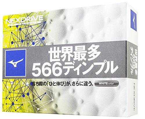 MIZUNO(ミズノ) ゴルフボール NEXDRIVE ネクスドライブ 1ダース(12個入り) 2ピース ホワイト 5NJBM32810