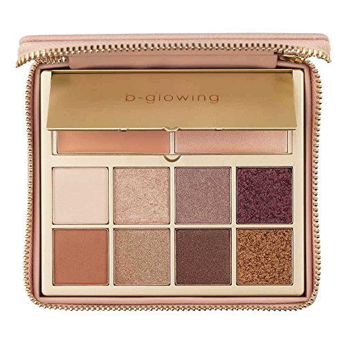 b-glowing Illuminate + Shine - Designed for Mature Women - No Talc - 8 Matte Shimmer Satin Colors, Brightening Eye Concealer + Primer + Creamy Highlighter - Pro - Soft, Nudes, Natural, Bronze, Neutrals, Pigmented