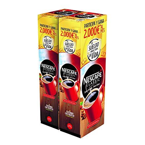 Nescafé café soluble descafeinado - 2 estuches x 50 sobres de 2...