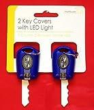 2x Azul Mando Fundas para Llaves con Luz LED Linterna para Llavero
