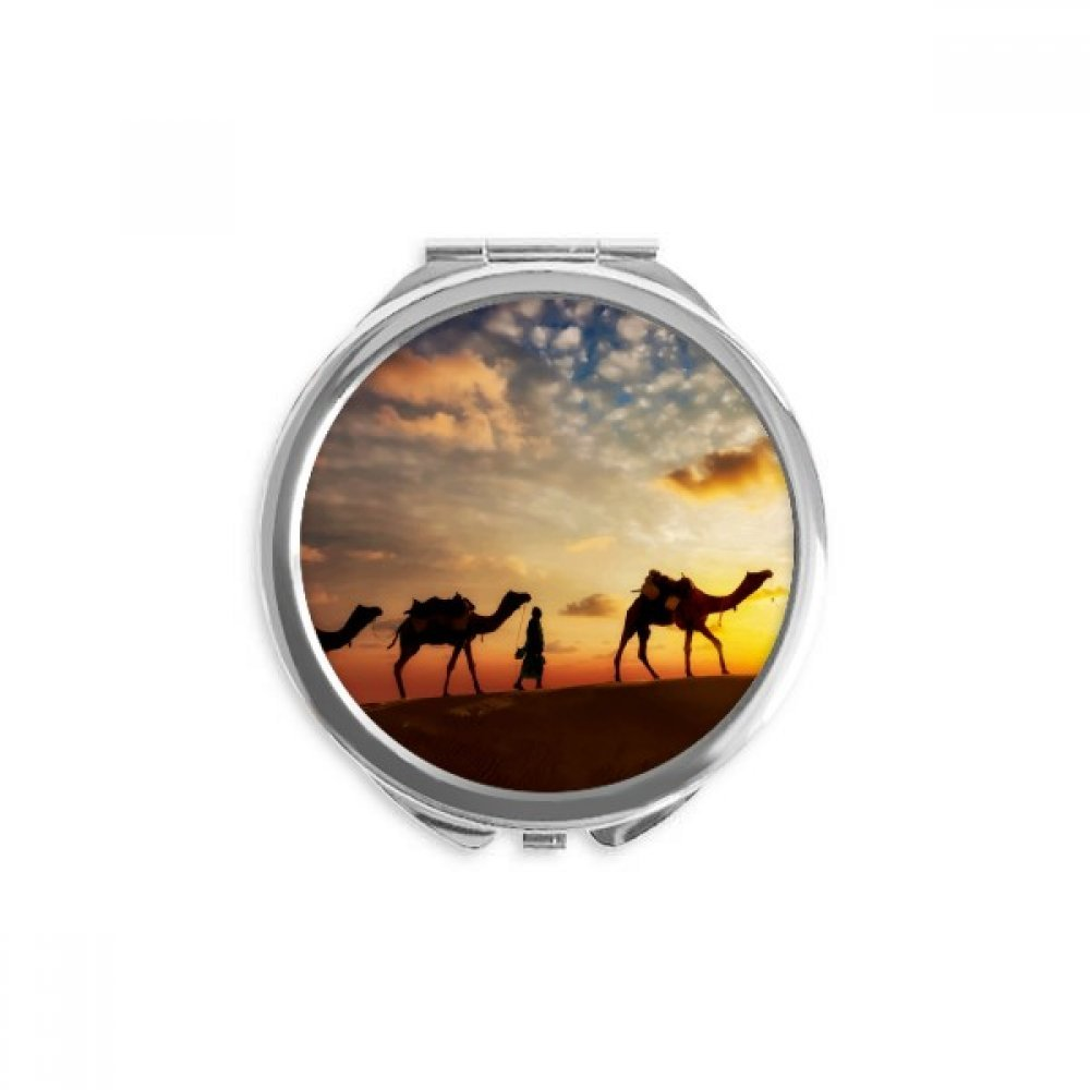 All Seattle Mall the Way to 5 ☆ very popular Silk Road Camel Ro Hand Desert Mirror Compact