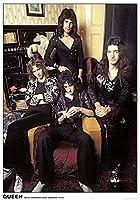 キャラクターポスター、映画ポスター、QUEEN クイーン (来日記念) - West Kensington LONDON 1974 ポスター A3サイズ(42x30cm)