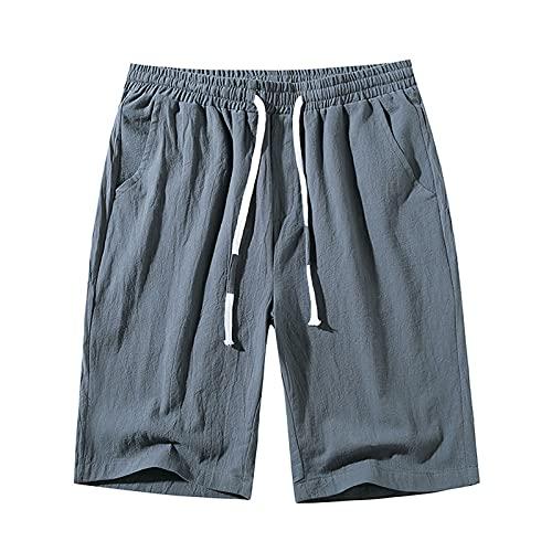 Bermuda Homme Casual Coton Short Hommes Sport Cargo Shorts de Travail Shorts Court Ceinture Coupe Normale Confortable cordon Respirants Cargo Panta Ajustable Survêtemen