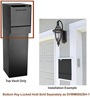dVault Wall Mount Package Drop DVWM0062S Secure Mail/Package Drop in Black (Top Only)