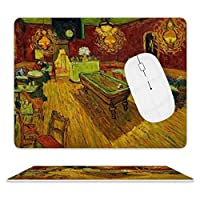 Van Gogh-night Cafeマウスパッド ゲーミングマウスパッド 大型ゲーム専用裏面滑り止め 高級感 おしゃれ 防水 耐久性が良い 滑り止めゴム底 ゲーミングなど適用