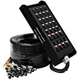 Seismic Audio - SALS-16x8x50 - 16 Channel 50' Pro Stage XLR Snake Cable (XLR & 1/4' TRS Returns) for...
