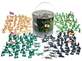 Army Men Action Figures - 202 Pieces with American, British, German & Japanese Soldiers by HingFat