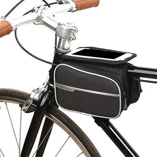 Bolsa de Bicicleta Marco de la Bolsa Bicicleta de la Bici Bolsa Delantera del Bolso del Tubo Impermeable de la Pantalla táctil Bolsa for 4.8 a 6.2 Pulgadas del teléfono Bolsa de Marco (Color : B)