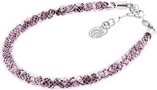 Bracciale Rosa in Argento 925 con Cristalli Luminosi Collezione Tennis