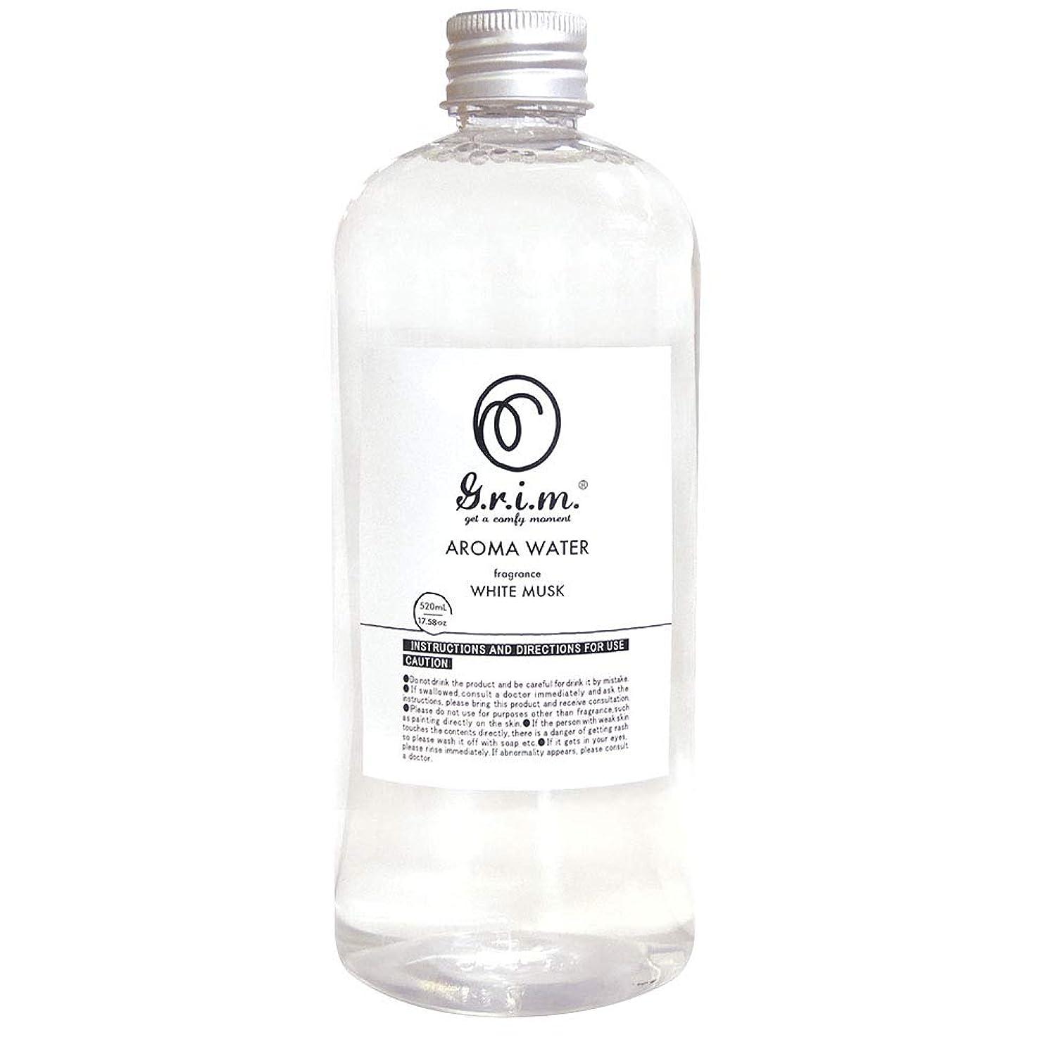緩める破裂摩擦ノルコーポレーション アロマウォーター g.r.i.m 加湿器用 消臭成分配合 OA-GRM-10-1 ホワイトムスクの香り 520ml