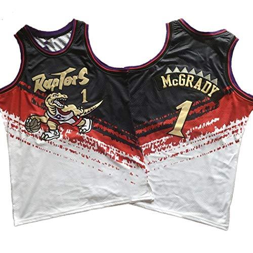 Jjzhb Maglia da basket Toronto Raptors Retro Stagione Pallacanestro Jersey, Tracy McGrady Uniforme 1# degli Uomini, NBA Swingman Maniche Unisex, S -XXL (Size : XS)