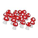 F Fityle 20 Unids Micro Miniatura 7 Colores Seta Figura para DIY Musgo Terrario Bonsai Escritorio Decorativo Regalo - Rojo