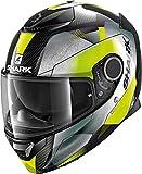 Casco de Moto Shark Spartan Carbon 1.2 Kitari DGA, Negro/Verde, M