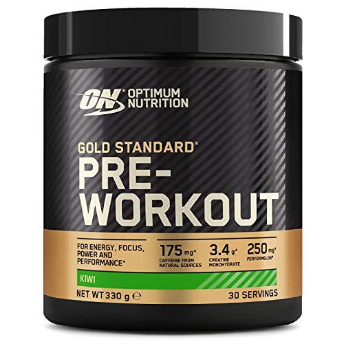 Optimum Nutrition Gold Standard Pre Workout, Energy Drink con Creatina Monoidrata, Beta Alanina, Caffeina e Vitamina B Complesso, Kiwi, 30 Porzioni, 330g, il Packaging Potrebbe Variare