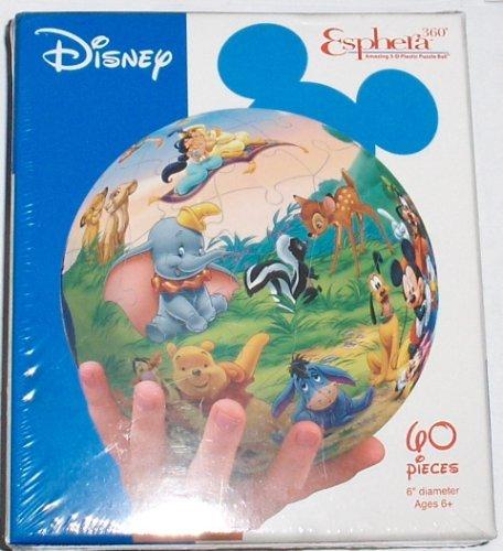 "Esphera 360 6"" Disney Classic Character Globe Puzzle"