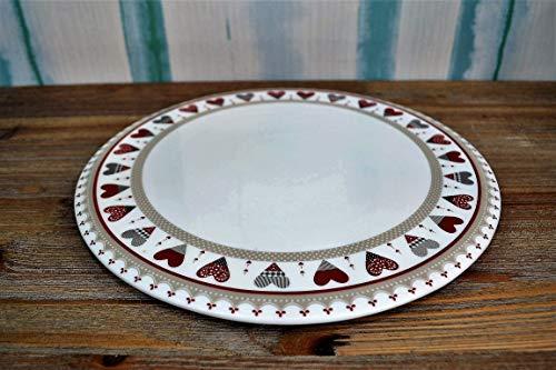 Brandani 53325 Assiette à tarte en porcelaine, diamètre 30,5 cm