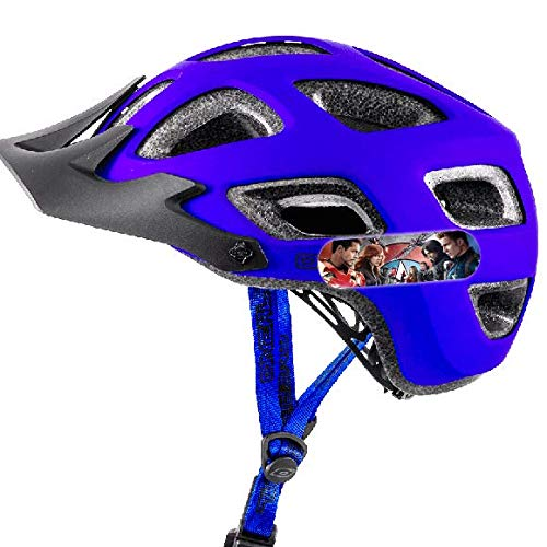 Super Hersteller-Aufkleber, reflektierend, für Fahrradhelm und Roller, Captain America, 2 Stück