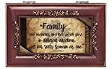 Cottage Garden Family Branches in a Tree Rose Wood Finish Jewelry Music Box Plays Canon in D