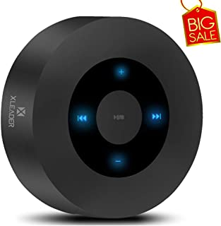 [LED Touch Design] Bluetooth Speaker, XLEADER Portable Wireless Speakers with HD Sound / 12-Hour Playtime/Bluetooth 4.1 / Micro SD Support, for iPhone/ipad/Samsung/Tablet/Laptop/Echo dot (Black)