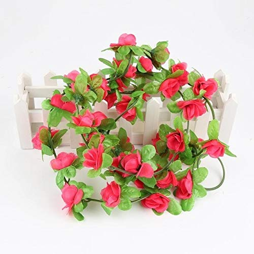 Jing Ger Flower with Ivy Vine Artificial Flower for Home Wedding Decor Decorative Artificial Flower Garland Artificial Flower Vine Leaf (Color : 06)