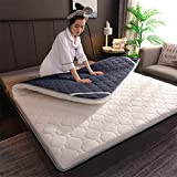 ZHAS Cojín de colchón de algodón de Punto, engrosar Alfombrilla de Tatami para Dormir Acolchada, Plegable, Transpirable, Tradicional, futón, japonés, sobre de Cama, sobre de Almohada, colchón par