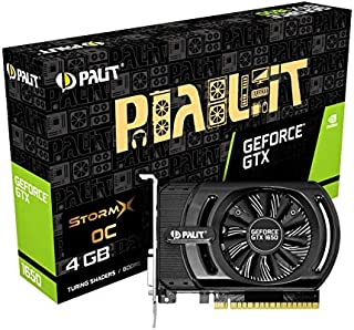 Palit GeForce GTX 1650 StormX 4 GB GDDR5 - Tarjeta gráfica (GeForce GTX 1650,  4 GB,  GDDR5,  128 bit,  4096 x 2160 Pixeles,  PCI Express x16 3.0)