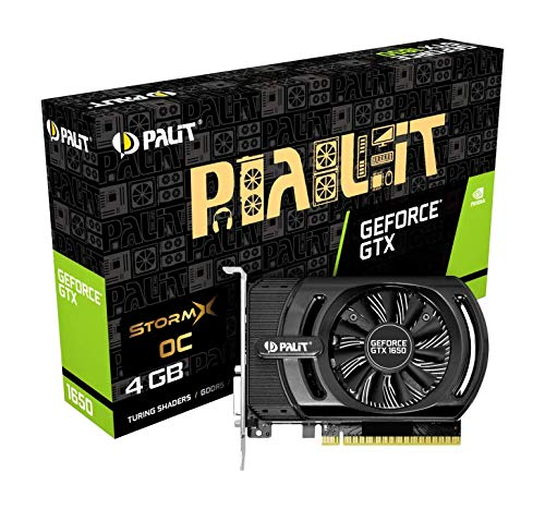 Palit GeForce GTX 1650 StormX 4 GB GDDR5 – Grafikkarten (GeForce GTX 1650, 4 GB, GDDR5, 128 Bit, 4096 x 2160 Pixel, PCI Express X16 3.0)