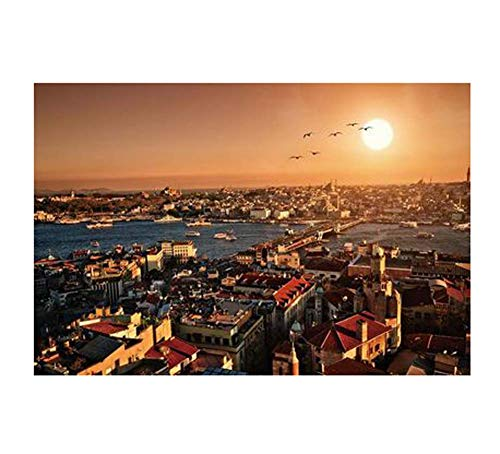 Black Temptation Style de la Turquie Classique 1000 Pcs Beaux paysages Puzzles Photos d'ornement