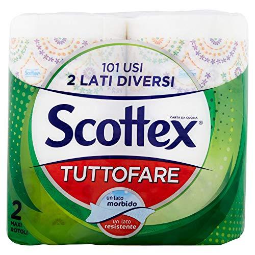 Scottex Tuttofare, papel higiénico con doble capa, maxi rollos 2 Maxi Rotoli