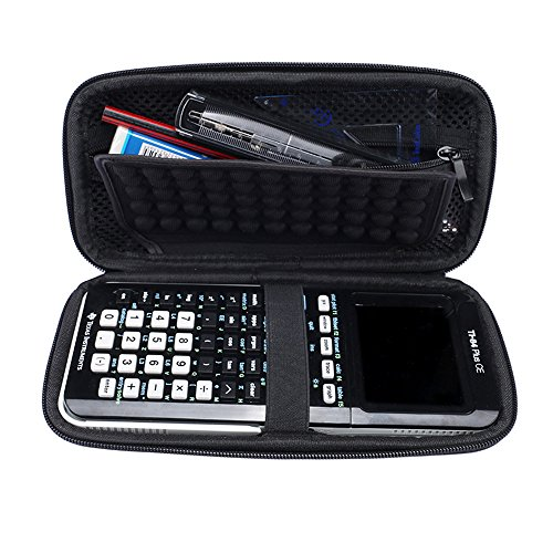 For Graphing Calculator Texas Instruments TI-84 / Plus CE 83 85 Hard Carrying Case Travel Bag Protective Pouch Box -Extra Room for Pen and Accessories(Black) Photo #6