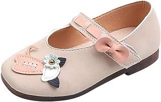WINJIN Chaussures de Princesse Enfant Filles Ballerines Étudiants Mignon Chaussures Cuir Souple Sandales Fleur Chat Casual...