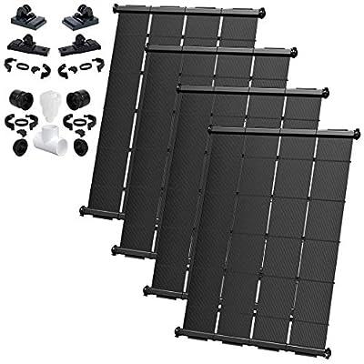 SOLARPOOLSUPPLY Industrial Grade DIY Solar Pool Heating System Kit - Lifetime Limited Warranty - Wear & Freeze Resistant - (4) 4'X10.5' / 168 Square Feet