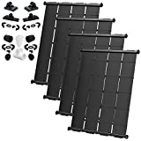 Industrial Grade DIY Solar Pool Heater System Kit - Lifetime Limited Warranty - Strapless Mounting Design [4-4x10.5/168 Square Foot Coverage]