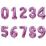 WUJIANCHAO 40 Pouces Rose Or Argent Nombre Feuille Ballons Grand Hélium Globos Fête d'anniversaire De Mariage DIY Décorations Chiffre Figure Ballon