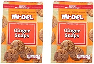 Mi-Del Cookies, Ginger Snap, 10 Ounce (Pack of 2)