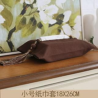 TISZJHU Tissue Box Porta Fazzoletti Scatola per fazzoletti Sacchetto di tessuto di cotone semplice pu/ò essere appeso casa auto auto pompaggio scatola di carta tessuto Tovagliolo di carta copertina in tessuto strisce bianche e nere