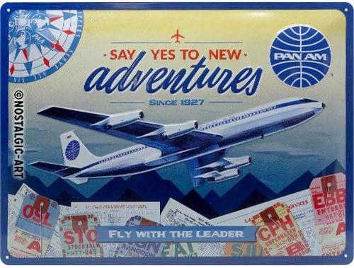 Nostalgic-Art Retro Tin Sign Pan †New Luxury Adventures – SEAL limited product Am