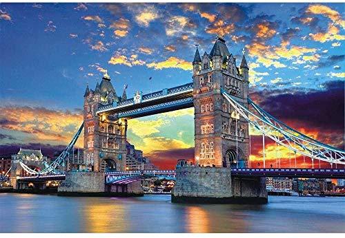 Puzzles für Erwachsene Puzzles Puzzles für Erwachsene Puzzle für Erwachsene London Tower Bridge Schwierig und herausfordernd-3000 Stück (38 * 30 * 7CM)