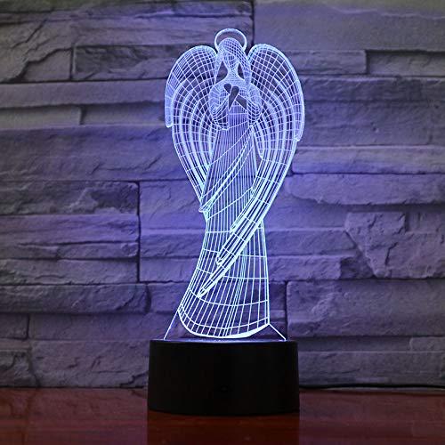 Engel 3D Led Lampe 7 Farben Ändern Visuelle Led Nachtlichter Für Kinder Touch Usb Tisch Lampe Engelsflügel 3D Licht Led Nachtlichter Von Lichter