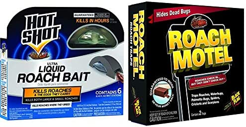 Hot Shot HG 95789 Roach Killer 6 Count Brown a Black Flag 11020 511086 Roach Motel Insect Trap product image