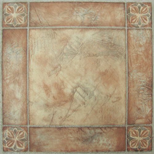 Achim Home Furnishings FTVMA44620 Nexus 12X12-Inch Vinyl Tile, Spanish Rose, 20-Pack