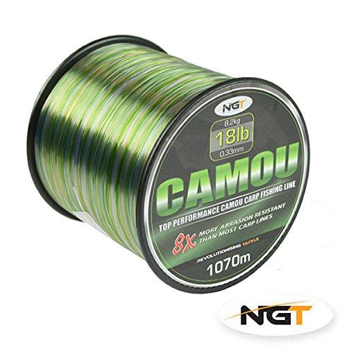 NGT Spool of Camo Line, Green, 15 lb/1300 m