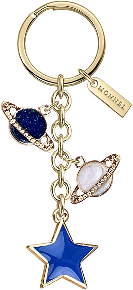 Monnel Z561 Little Star Saturns Pendants Charms Ve with Selling unisex Keychain